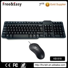 hotsale custom logo factory wholesale cheap wired keyboard mouse