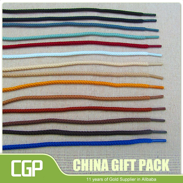 Cheap price high quality colorful cotton material fashion shoelace