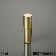 wholesale luxury 1oz acrylic cosmetic serum lotion packaging pump bottle gold colour paint