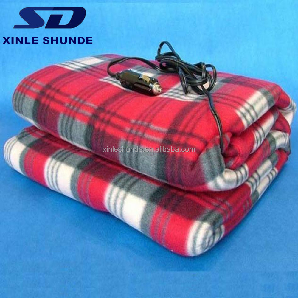 Portable 12V DC Electric Heated Blanket