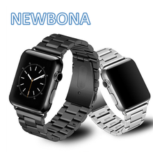 316L Clasp Buckle Band Stainless Steel Watch Strap For Apple Watch