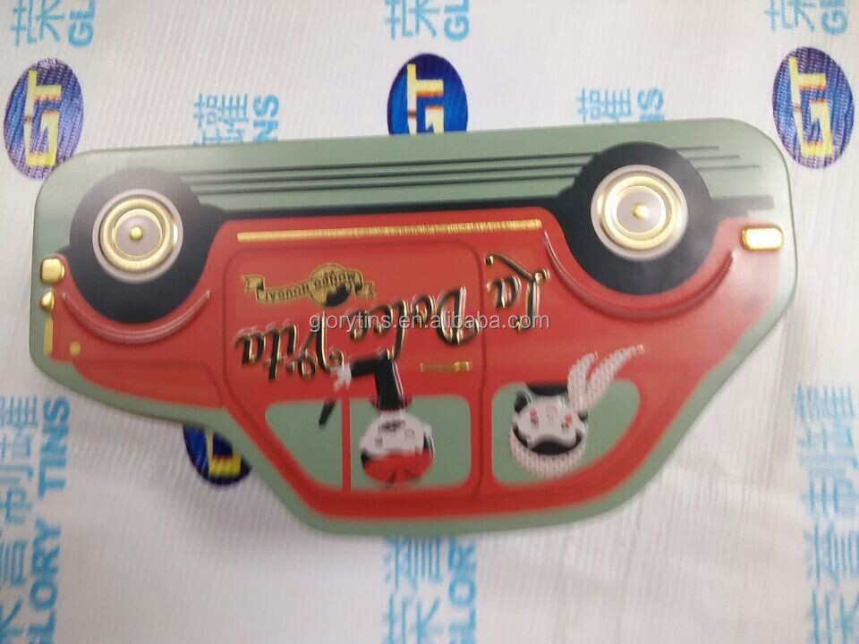 pretty car shape tin case for children gift
