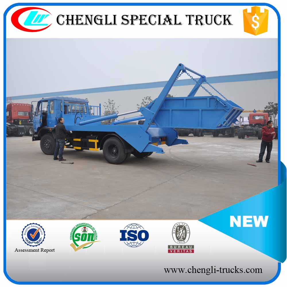 Dongfeng Longhead 4x2 6000L Swept-body Refuse Waste Rubbish Garbage Collector Garbage Truck
