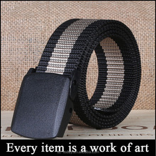 Manufacturers Plate Buckle Fashion Braided Belt, Casual Woven Belt, Canvas Belt