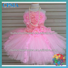Wholesale fashion lace dress pink dress nice design for fairy comfortable dress