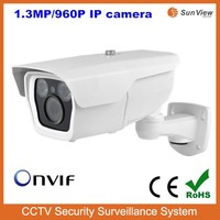 SunView New two Array LEDs outdoor 960P IR bullet IP camera IP66 camera