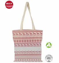 Wholesale Promotional Recyclable Full Color Print Design Cotton Tote Bag