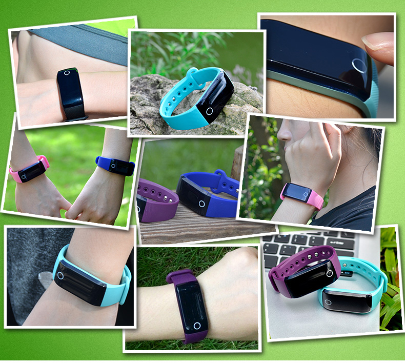 Hot Seller Colorful Bluetooth Wristband Smart Fitness Tracker Heart Rate Monitor
