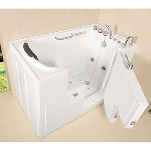 Hangzhou Constar white color luxury deluxe high quality Cheap Bathroom Double whirlpool bathtub for old people and disable