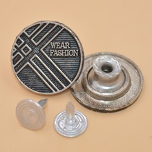 2017 hot sale custom metal jean tack buttons for jeans