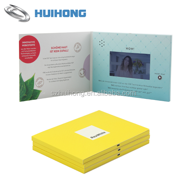 High Quality Lcd Video Booklet,Lcd Screen Video Booklet,Promotion Video Booklet