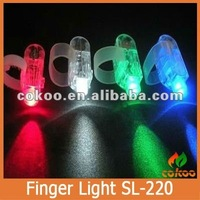 Amazing Hot MenWomens lighting glove Unisex Flash Light Up Night led finger light