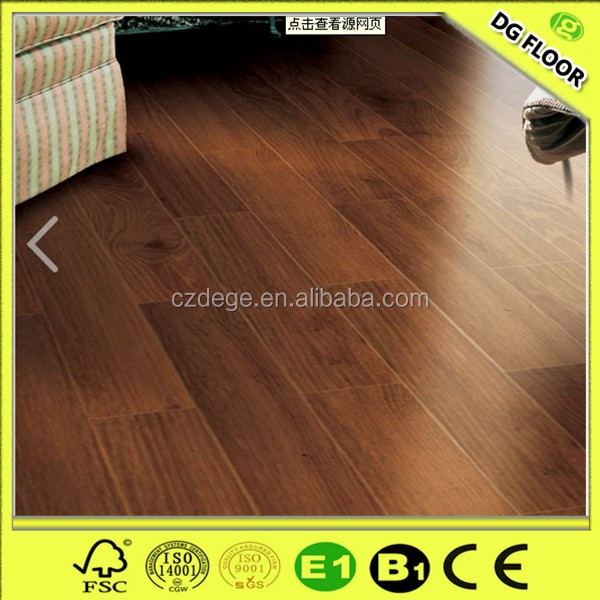 8mm oak colors two strips hdf laminated wood flooring china factory market