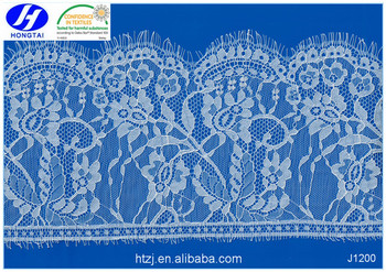 Hot Sell High Quality Nylon Cotton Kintted tulle Eyelash Lace fabric in China