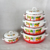factory supply 10pcs enamel pot set kitchen cookware porcelain clad casserole ,shaded drawing red color 5sets enamelware
