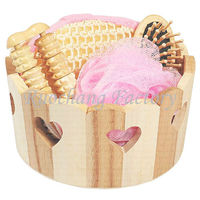 Nature Wooden Basket Bath Sets For Bathroom