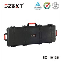 Hard ABS plastic waterproof tool case with handles