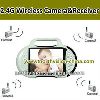 2.4G battery powered wireless camera without running cable