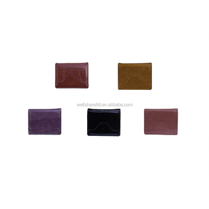 Wholesalers Simple Simple Genuine Leather Purple 6 pieces set Ladies Purse Wallet with Handles