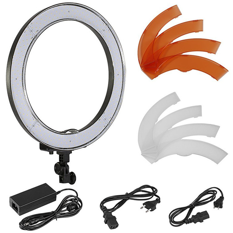Flexible long arms lazy bracket table stand LED Selfie Ring Light with Phone Holder metal base  for Live Stream Makeup