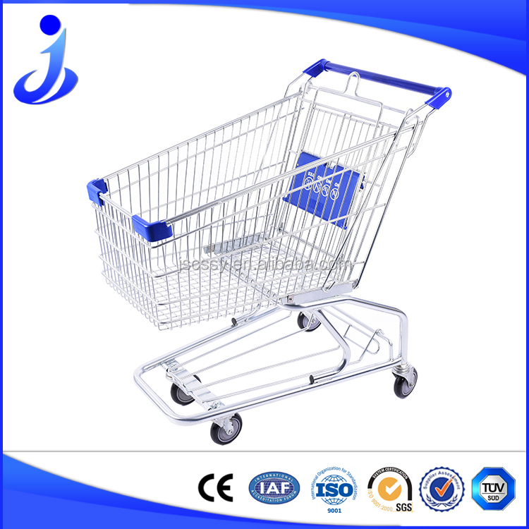 High quality and CE qualified American style shopping cart/Rolling storage trolley/Retail