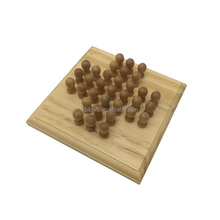 2018 popular mini portable solitaire wooden board game