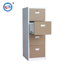 4 tier steel drawer filing cabinet with inside safe box
