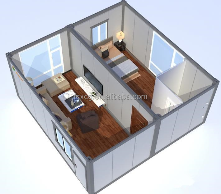 Dilated 20feet Flat Pack Container House for Accommodation