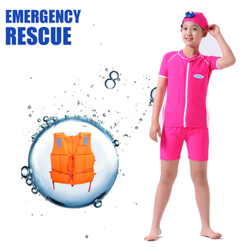 KSOS emergency rescue high quality long sleeve professional competitive baby adult modest set floating float swimming suits wear