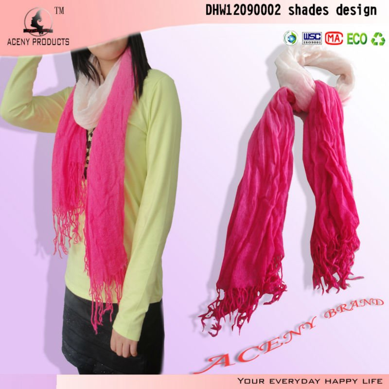 Loose Knitted Pattern Soft Acrylic Scarf