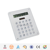 HaiRong promotional 12 digits a4 calculator with printing card