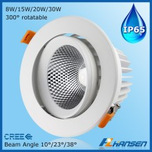 USA market UL 10 inch led downlight 30w IP65 frosted glass recessed downlight