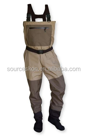Breathable stocking foot water proof fishing wader