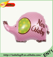 2016 new arrival animal elephant shaped foil balloons, big cartoon self inflating mylar balloons