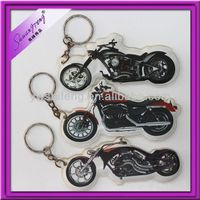 Funny Motorcycle Gifts Soft PVC Keyring Printed Manufacturer