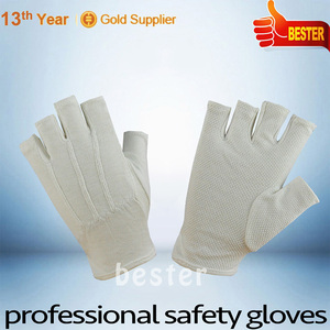 Practical First Choice white thin cotton etiquette gloves half finger