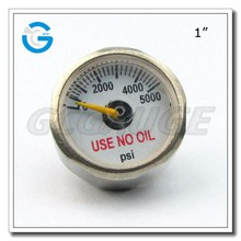 "High Quality back connection 5000PSI 1 "" high pressure gauge"