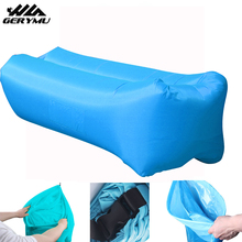 Camping Lazy Bag Outdoor Inflatable Air Beach Sofa Bed Ultralight Square Sleeping Bag Inflatable Air Lounger