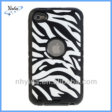 Black Zebra Rugged Hard Case For iPod iTouch 4