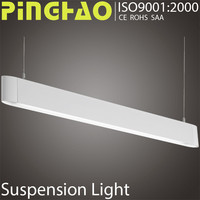 white black sliver office decoeration led linear pendant lamp wall recessed colour suspension light
