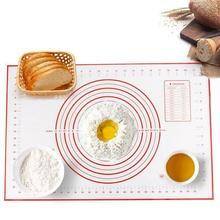 Large Reusable Heat Resistant Baking Mats & Non Stick Dough Silicone Rolling Pin Mat with measurements