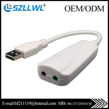 Best price interface white color optocal USB 7.1 sound card