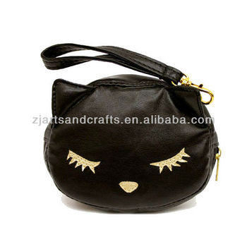 PU Kids Animal Embroidery Zipper Bag Coin Purse