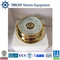 Nautical brass digital aneroid barometer