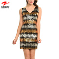 Wholesale women fashion sequein hot night dress