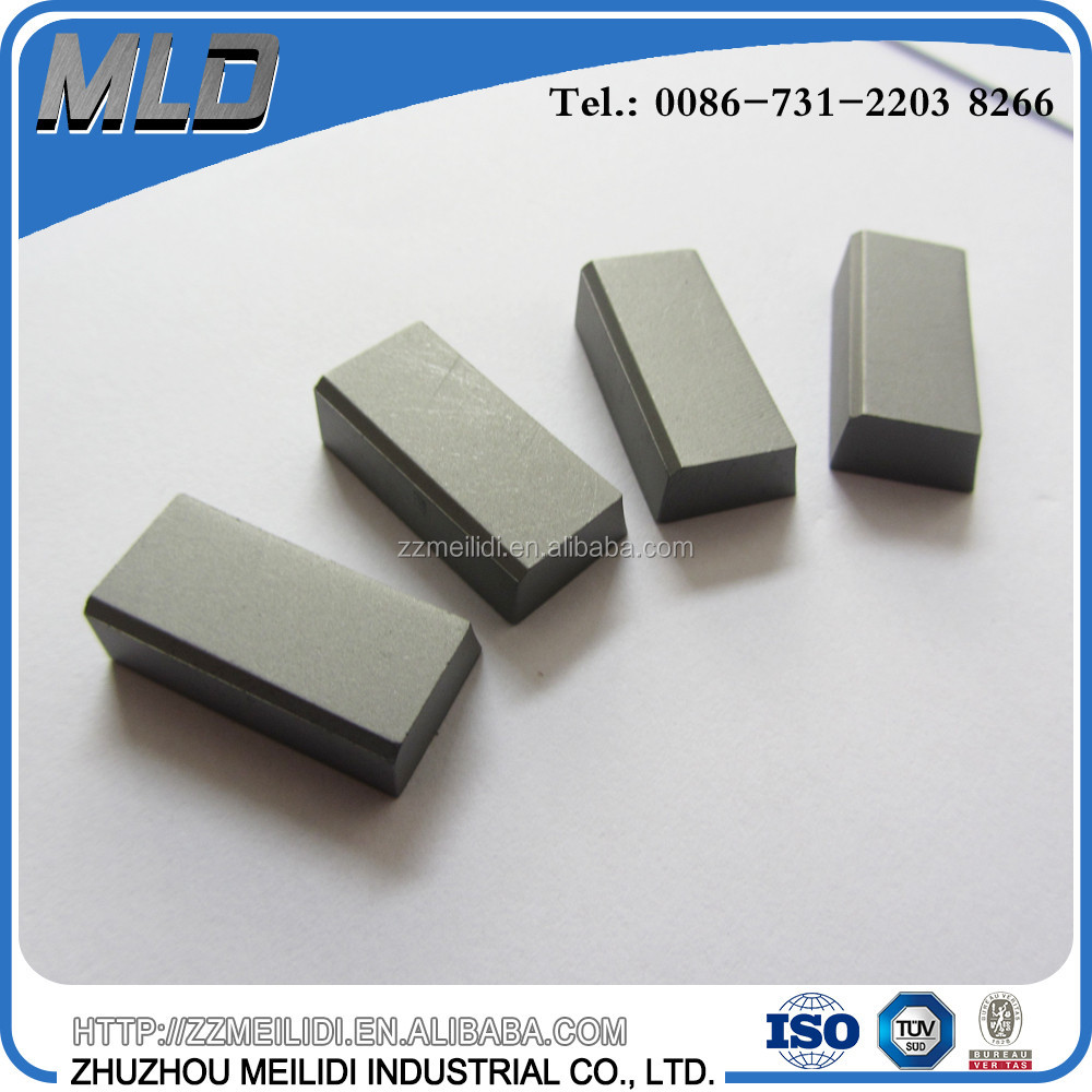 High quality YG6/YG8/YG10 tungsten carbide brazed tips for making end/turning tools