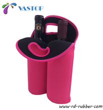2-bottle Wine Carrying Tote Picnic Cooler Two Bottle Water Drinks Beer Insulated Neoprene Hand Bag