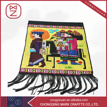 Chinese art collection and useful style square tapestry for adequate coverage of the wall area