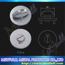 Customize Thumb turn indicator Washroom/WC/toilet/Bathroom/cubicle door handle 304 316 stainless steel round solid handle lock