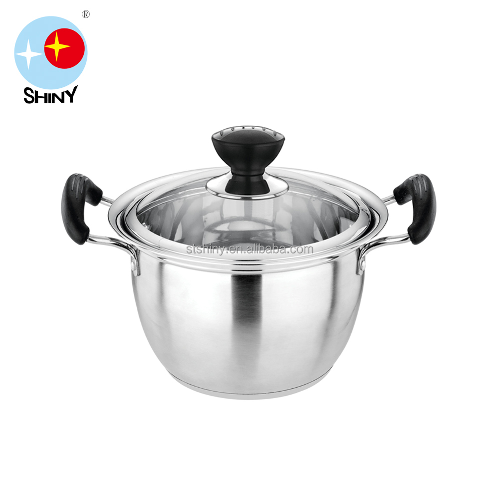 Heat Resisting Handle 201 Stainless Steel Material Pots for Soup Cooking